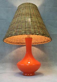 Midcentury modern 1960s italian blue glass table lamp light rewired vintage midcentury italian orange glass table lamp light rewired fwo greentooth Choice Image