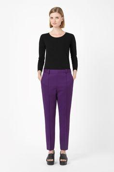 Press fold wool trousers