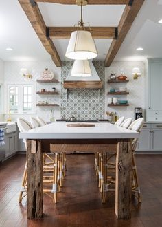 Old Meets New in a Family Gathering Spot | Beach Style Kitchen by HwRenewal