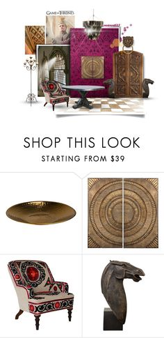 """""""Game Of Thrones Interior Set"""" by noanoa683 ❤ liked on Polyvore featuring interior, interiors, interior design, home, home decor, interior decorating, Iron & Clay, Lazy Susan, Global Views and Jayson Home"""