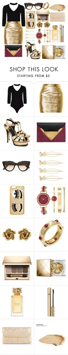 """......"" by adan2001 ❤ liked on Polyvore featuring Boohoo, Yves Saint Laurent, Dareen Hakim, E L L E R Y, Accessorize, Chiara Ferragni, Anne Klein, Oscar de la Renta, Tiffany & Co. and Clarins"