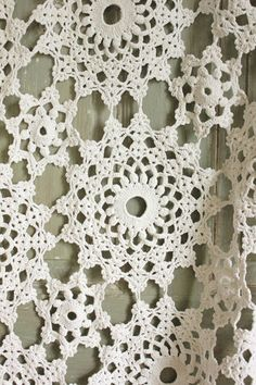 I bought two of these at an antique shop for $5 each. They were in great condition and fit my king size bed. I've used them on my bed, as a Christmas tree skirt, and as a tablecloth. I think since there are two of them I will turn them into curtain panels. Vintage French Crochet Bed Cover Coverlet Off White Hand Made Lace Textile   eBay