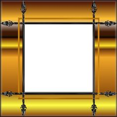 yellow frame png | Gold  Yellow Picture Frames