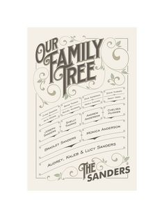 Our Vintage Family by GeekInk Design for Minted