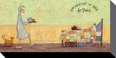 Sam Toft (Breakfast in Bed For Doris) - canvas prints - PyramidShop.com