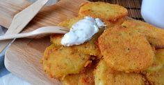 Perfectas para dipear o para servir como guarnición diferente. Seguro que te encantan estas patatas con queso del blog DIFRUTANDO DE LA COCINA.
