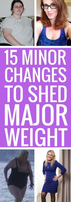 15 slight changes to your daily habits to lose weight fast and for good.