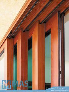 Stackable door Wooden Sliding Doors, Wooden Windows, Sliding Windows, Sliding Glass Door, Windows And Doors, Window Design, Door Design, Extension Veranda, Stacking Doors