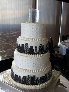 Skyline Cake I Want This To Be My Wedding Chicago