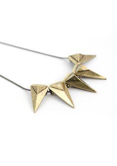 Spike Triangle Collar Necklace - Accessory - Retro, Indie and Unique Fashion