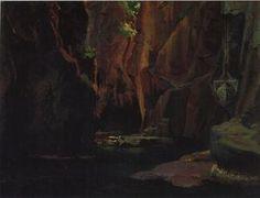 Nikolai Ge - Schlucht in den Bergen von Carrara