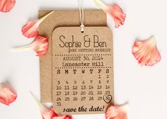 Save the Date Rubber Stamp Set - DIY Calendar Stamp with Heart ...