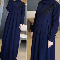 Image may contain: people standing Abaya Fashion, Modest Fashion, Fashion Dresses, Arabic Dress, Mode Abaya, Muslim Women Fashion, Abaya Designs, Muslim Dress, Hijab Chic