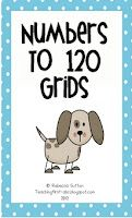 Common Core First Grade Numbers to 120 Grids! Freebie!