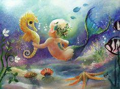 robin pushe'e art | Robin Pushe'e › Portfolio › Babies of the Sea