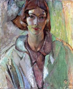 'Portrait of Vera', 1931 - Frederick Horsman Varley Tom Thomson, Emily Carr, Group Of Seven Artists, Group Of Seven Paintings, Painting People, Figure Painting, Painting & Drawing, Canadian Painters, Canadian Artists
