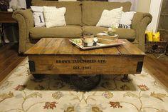 August, 2011 | A Bowl Full of Lemons Rustic Coffee table- DIY