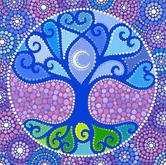 moom Mandala Art | Elspeth McLean › Portfolio › Moon-Tree Mandala