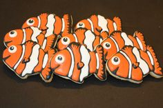 Finding Nemo Inspired Decorated Cookies by SugarNirvana on Etsy, $30.00
