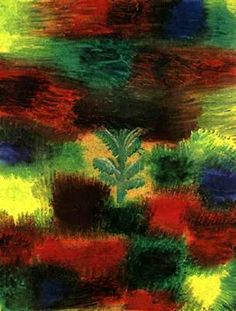 Paul Klee >> Little Tree medio Shrubbery  |  (, obra de arte, reproducción, copia, pintura).