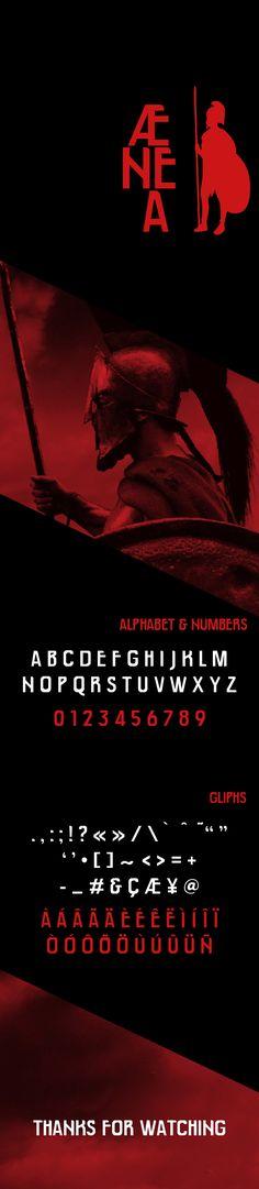 ÆNEA - a free title typeface