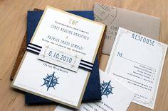 Nautical Bliss Destination Wedding Invitations by BeaconLane