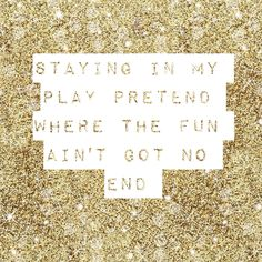 """""""Staying in my play pretend where the fun ain't got no end"""" - Habits by Tove Lo. #lyrics"""