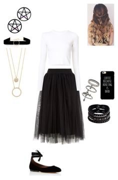 """""""idek"""" by bandsaremyheartandsoul ❤ liked on Polyvore featuring Proenza Schouler, Tabitha Simmons, Anissa Kermiche, Kate Spade, Miss Selfridge, Marina Fini and Replay"""