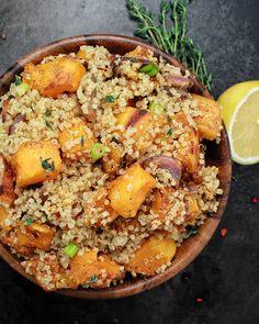 Quinoa Roasted Butternut Squash & Red Onions