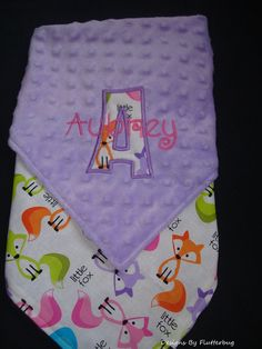 GIRLS PERSONALIZED Baby Blanket  Baby by Designsbyflutterbug