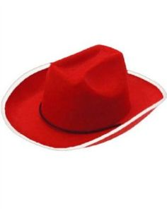 24c0fdefeed06 Red Country Cowboy or Cowgirl Cow Boy Felt Costume Hat Cowgirl Hats