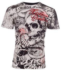Xtreme Couture AFFLICTION Men T-Shirt TOOTHACHE Skull Tattoo Biker UFC M-4XL $40 #Affliction #GraphicTee