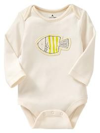 Long-sleeve embroidered bodysuit Baby Gap