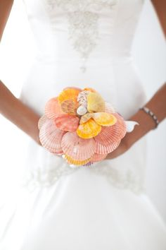 Bridal Bouquet made from Seashells