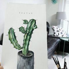 . 인테리어용으로 딱 #예쁘다 🌵 . . . . #홈#집꾸미기#인테리어#예뻐#넘나좋은것#살림#주부놀이#수채화#초록#일러스트#식물#그림스타그램#취미미술#감성사진#누이#힐링#여유#커피#스타일#북유럽스타일#선인장#watercolor#aquarelle#illustration#cactus#interior Watercolor Plants, Watercolor Paintings, Green Plants, Cactus Plants, Diy Letters, Plant Art, Plant Illustration, Art Journal Inspiration, House Plants