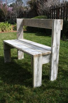 Barn Wood Bench another good design.