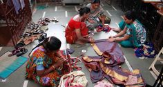 I was a Sari - Reality Gives ngo The idea is to use indian artisans, artisanal techniques to make socially relevant design