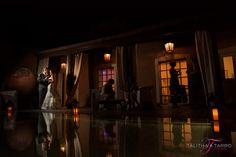 Casa Esencia Wedding. Bride and Groom. Night Photography. Unique Wedding Photography. Indoor Reception. Indoor Wedding.