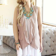 The perfect 70's inspired vest!