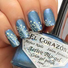Instagram media by shimacha2012 - #el_corazon Active Bio-gel nail polish - Prisma - 423/37  Plate: #moyoulondon Pro Collection XL-05 Stamping Polishes: #mundodeunas Cream  #nailstamping #stampingnails #stampingnailart #nailporn #nailpromote #naillacquer #nailstagram  #lovenailpolish