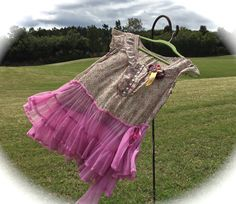 Whimsical Fluffy Twirly Sheer Tunic Shirt Rustic by IzzyRoo