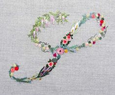 Mille fiori alphabet - S | The French Needle | French Needlework Kits, Cross Stitch, Embroidery, Sophie Digard