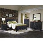 Coaster Furniture - Mabel 3 Piece California King Panel Bedroom Set in Medium Black/Oak - 203151KW-3SET