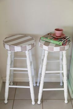 Easy DIY barstool makeover by @Lien Vong Wife using Universal Gloss White