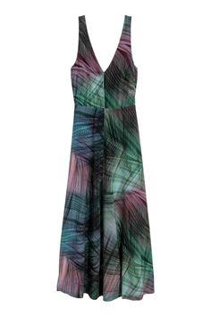 Zijden maxi-jurk - Meerkleurig - DAMES | H&M NL 1