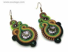 Green Bamboo earrings