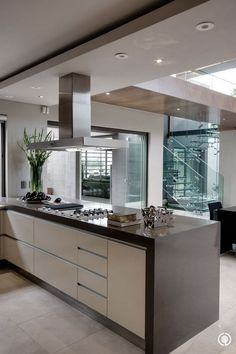 Interesting galley style kitchen.  On my wish list.