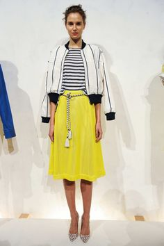 J.Crew Spring 2015 / that yellow skirt is so beautiful.