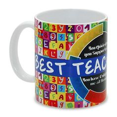 Gifts For Teachers, Mug for teachers day wishes, Make your Teacher feel special by gifting this mug which says wonderful Teacher by Hallmark India. Your Teacher, Best Teacher, Teacher Gifts, Teachers Day Wishes, Simple Quotes, Teachers' Day, Messages, Feeling Special, Coffee Mugs