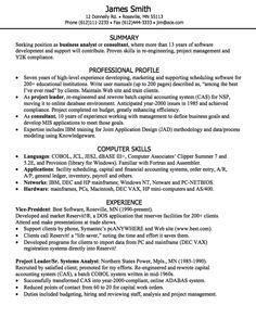 Business analyst cv writing service